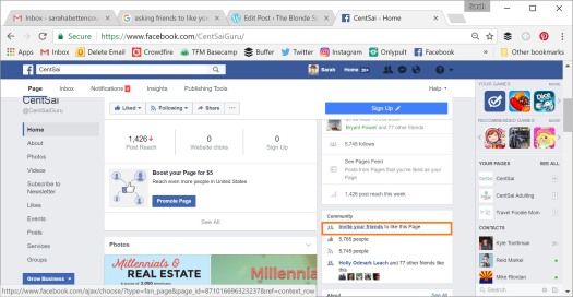 how to invite your friends to like your facebook page